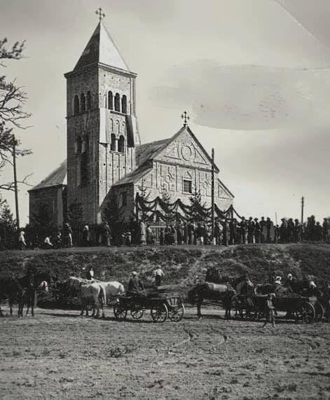 Костел Святого Аргентінуса. Фото 1936 року.